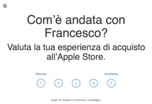 Sondaggio Apple Store sulla relazione con il commesso