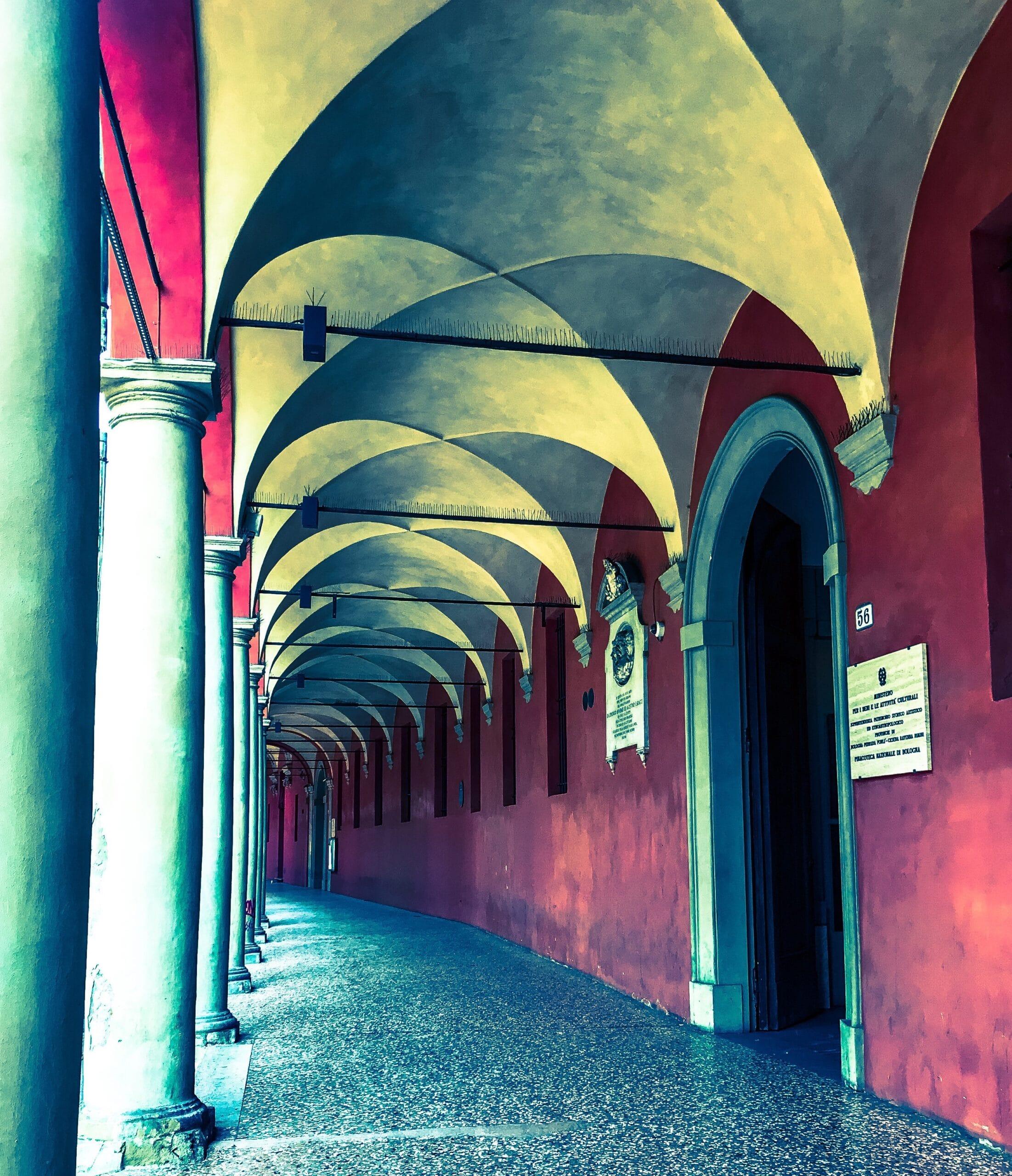 una delle prospettive della zona universitaria di Bologna